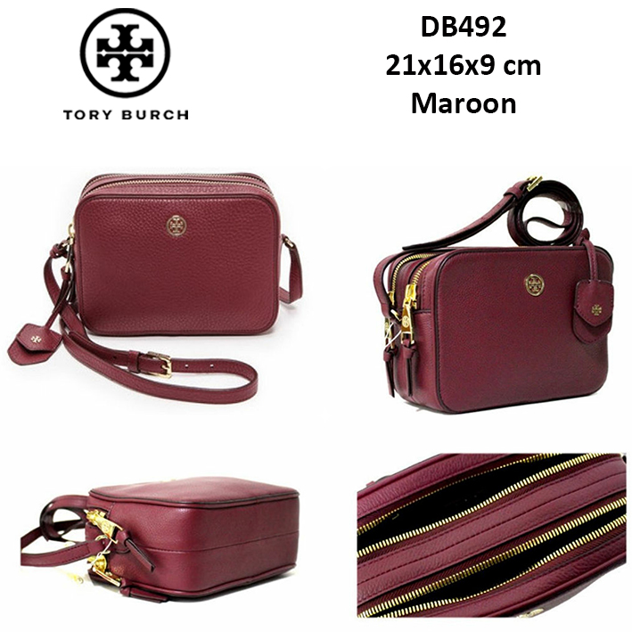 DB492 Tory Burch Robinson Pebbled Double Zip Crossbody Bag - SISBROW -  Firsthand Original Branded Bags with Lowest Price Ever!!